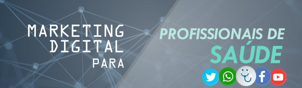 Banner do curso de marketing digital para médicos e profissionais de saúde